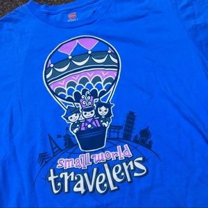 Disney its a small world travelers t shirt adult